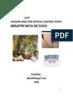 Model Rencana Haccp Industri Nata de Coco