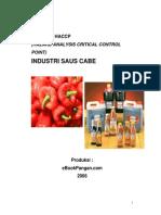 Model Rencana Haccp Industri Saus Cabe