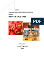 Model Rencana Haccp Industri Saus Cabe