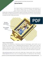 Basic Knowledge of Optical Switch