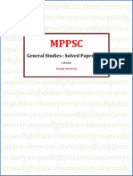 MPPSC General Studies Prelims Paper 2010