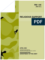 Army - fm1 05 - Religious Support