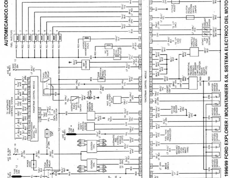 Diagrama Electrico Ford Explorer 98