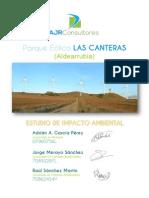 Estudio de Impacto Ambiental Parque Eólico Las Canteras (Aldearrubia) - Adrian A. Garcia - Master MGI EEN 2014