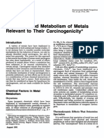 Chemistry and Metabolism of Metals