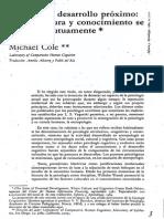 La Zona de Desarrollo Próximo Michael Cole-paper-1984