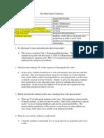 pre-observation form sample
