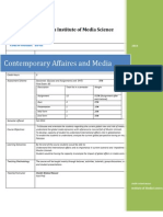 Course Outline Contemprary Studies and Media