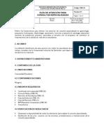 Guía de atención para consultas especializadas