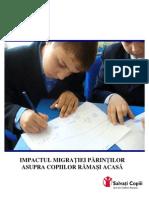 Impactul migratiei parintilor asupra copiilor lasati acasa