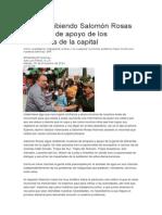 30/12/2014 Salomon Rosas Sigue Recibiendo Muestras de Apoyo de Los Habitantes de La Capital