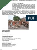 Harga Borongan Bangunan 2014 Bulan Ini + Cara Menghitung - Update 2014