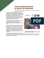 30/12/2014 Sigue Recibiendo Salomón Rosas Muestras de Apoyo de Habitantes