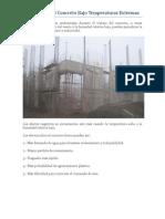Colocación Del Concreto Bajo Temperaturas Extremas