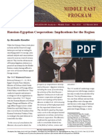 Russian-Egyptian Cooperation Implications for the Region