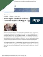 Reversing the Revolution_ Mubarak's Court Case Vindicates the Saudi Strategy on Egypt _ Brookings Institution