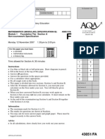 November 2007 Module 1 Question Paper