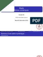 Maple et séries numériques