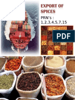 Spices export from India