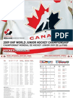 Hockey Canada Media Guide - 2009 IIHF World Junior Championship