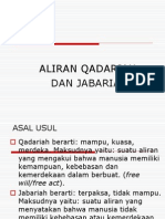 Aliran Qadariah Dan Jabariah