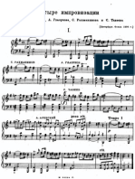 4 Improvisations Arensky Glazunov Rach Taneyev