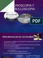 Crioscopia y Ebulloscopia