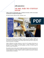 54 Comunas Del País No Cuentan Con Farmacias