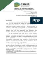PROPOSTA DE ANÁLISE LINGUÍSTICA E ENSINO