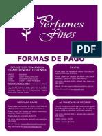 Perfumesfinos Formas de Pago