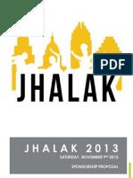 Jhalak 2013 Officiasdfl Sponsorship Proposal