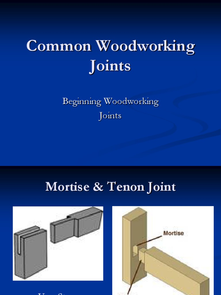 Common Woodworking Joints Notes