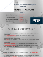 Acid-Base Titrations (Group 4)