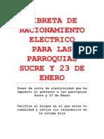 Libreta de Racionamiento Electrico
