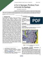 Essential Metal Co in Sponges Porifera From Spermonde Archipelago