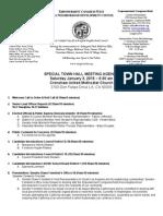 ECWANDC Special Town Hall Agenda - January 3, 2015