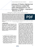 Mixed Matrix Membranes of Sodium Alginate and Hydroxy Propyl Cellulose Loaded With Phosphotungstic Heteropolyacid for the Pervaporation Separation of Water Isopropanol Mixtures at 300 C