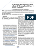 The Relationship Between 4ps Market Basket Analysis a Case Study of Grocery Retail Shops in Gweru Zimbabwe