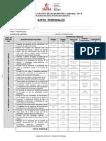 Ficha Evaluacion Desempeño Laboral - Secundaria
