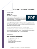 Ten Six Primavera P6 Professional EC Course Outline
