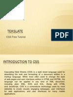 CSS Free Tutorial