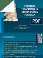 Procedee terapeutice in hernia de disc toracala
