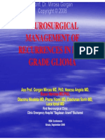 Neurosurgical management of recurrences in low grade glioma