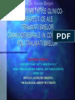 Particularitati Clinico-terapeutice ale traumatismelor craniocerebrale in contextul Politraumatismelor