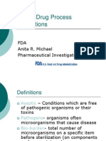 Sterile Drug Process Inspections FDA