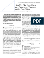 A Low-Cost 8 to 26.5 GHz Phased Array Antenna Using a Piezoelectric Transducer