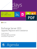 EXL309-Exchange Server 2013 Deployment & Coexistence (Rm426-427)
