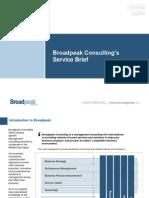 Broadpeak Consulting - Services Brief