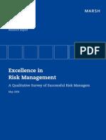 Excellence in Risk Management I