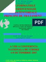 Malformatiile arteriovenoase supratentorial, principii de tratament